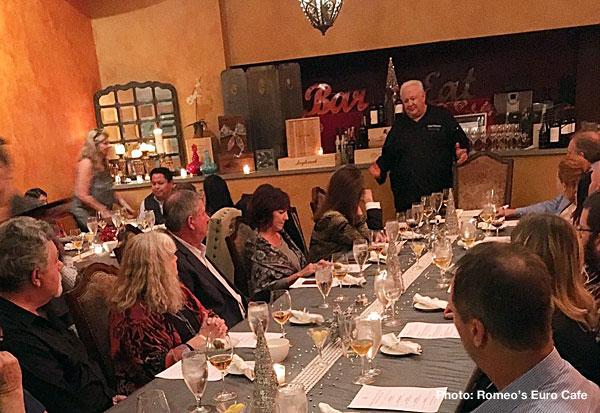 Oct. 3: 'Taste of Romeo's' dinner at Romeo's Euro Cafe in Gilbert
