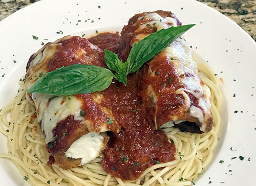 Amici Pizza in Mesa announces $15 eggplant rollatini special