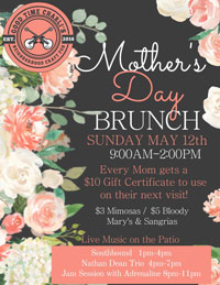 May 12: Mother's Day brunch at Good Time Charli's in Chandler
