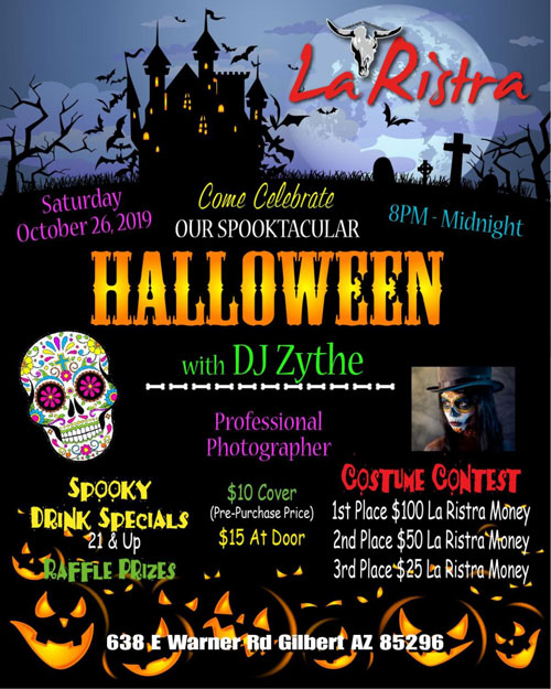 Oct 26 Spooktacular Halloween At La Ristra New Mexican Kitchen
