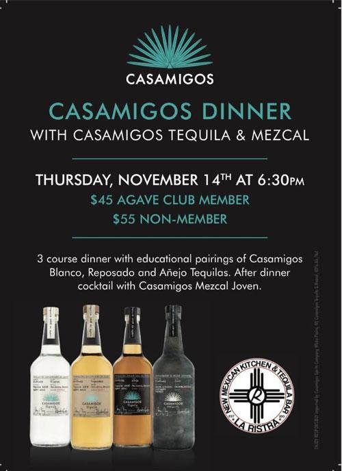 Nov. 14: Casamigos Tequila & Mezcal Dinner at La Ristra in Gilbert